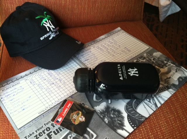 Souvenirs from Mariano Rivera's FIRST appearance of his LAST (2013) Spring Training.