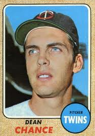 "Dean Chance - led Twins in strikeouts in 1967 - three 17 high school no-hitters - ""owned"" Yankees in 1964."