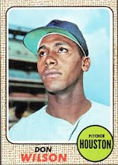 Don Wilson - led Astros in strikeouts in 1969 - threw two MLB no-hitters.