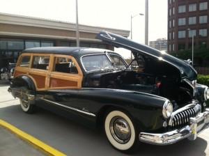 Impromptu Car Show at the Holiday Inn.