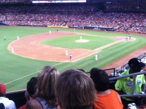 Seats at Busch Stadium on Day Two.