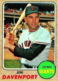 Jim Davenport contributed a three-run inside-the-park homer to the Giants record-tying inning.