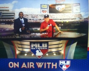 My assignment was at the MLB Network booth.