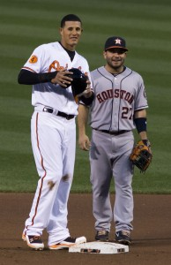 Jose Altuve - Houston's (sm)All Star -  alongside Manny Machado.
