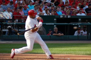 Albert Pujols has a piece of the World Series single-game records for hits, runs, RBI, home runs and total bases.