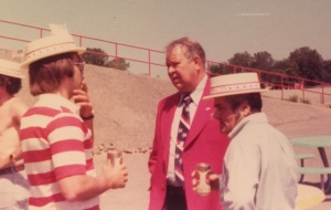 July 4, 1976 - Me, Calvin Griffith and my dad outside Metrpolitan Staidum
