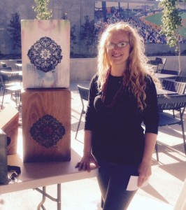 Art with a purpose. Empowered Percussion (303 Prince Street, Suite 312, St. Paul) was exhibiting and demonstrating its hand-built cajon drums on Opening Day.