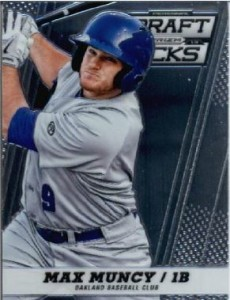 Max Muncy, promoted to the A's (from AAA Nashville)  April 25 hit his first MLB home run May 17.
