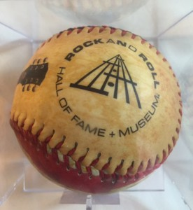 A baseball from the Rock and Roll Hal of Fame ... an appropriate symbol for BPT's Rock N'Roll Adventure.