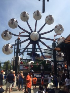 Kids love the ferris wheel and tiger-themed carousel at Comerica.