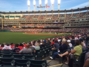 Progressive Field - lots of fireworks, early and late.