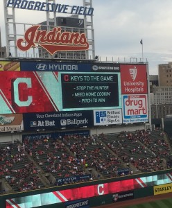 Scoreboard old the story.  Today's Indians' strategy. Stop yesterday's hero -Torii Hunter.