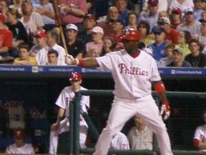 Ryan Howard, hit the games first home run,