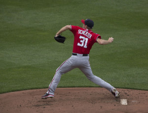 Max Scherzer - Fans 17 in second no-hitter, 18 Nationals also go down on strikes.