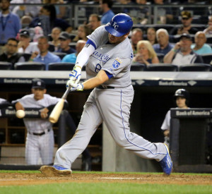 Mke Moustakas - a big part of a Royals offense that puts the ball in play.
