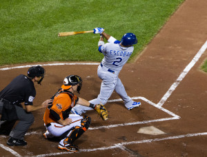 Alcides Escobar - Spark plug helped lead Royals to Championship with record setting 15-game post-season hitting streak.