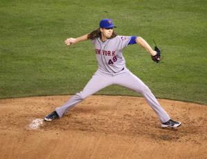 Mets' starter Jacob deGrom.