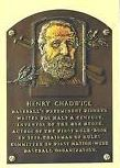 Henry Chadwick - his development of the box score helped earn him a spot in the Baseball Hall of Fame.