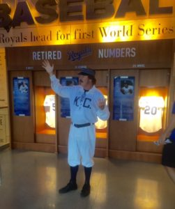 A talk on uniforms of the past was part of the Royals HOF experience.