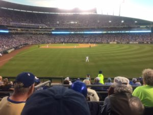 A great night for baseball. The game  not so much.  Unless you were a Royals' fan.