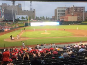 Autozone Park - home of the Memphis Redbirds.