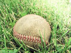 Old dirty baseball photo