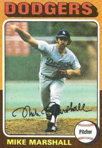 Mike Marshall pitched a record 208 1/3 innings in relief in 1974.