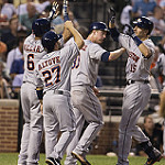 The Astros did a lot of celebrating in May. Photo by Keith Allison