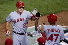Mike Trout - Six Straight Seasons of 25 or more home runs. Photo by Keith Allison