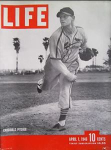"Barrett's fine 1945 season earned him a spot on the cover of ""life."""
