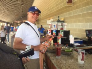 "Ballpark Tours ""spindoctor"" visits the Bloody Mary Bar."